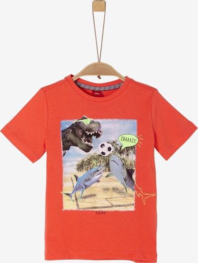 s.Oliver T-Shirt in mischfarben / dunkelorange, Produktansicht