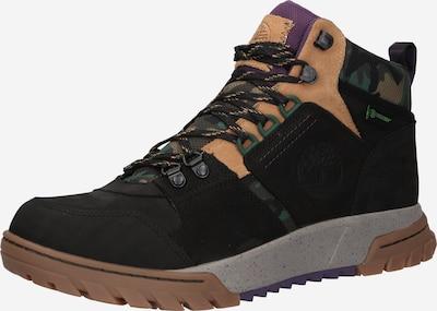 TIMBERLAND Boots 'Boulder' i lysebeige / mørkegrøn / aubergine / sort, Produktvisning