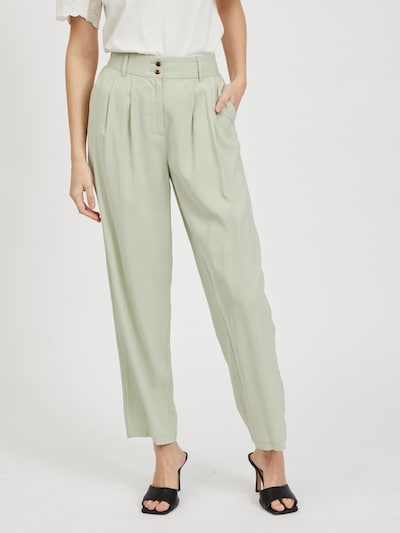 VILA Pleat-front trousers 'Pauline' in Pastel green, View model