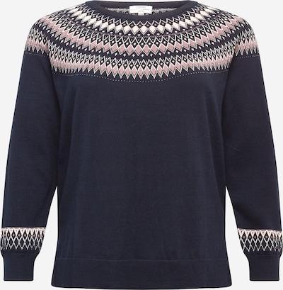 Esprit Curves Pulover u mornarsko plava / roza / bijela, Pregled proizvoda