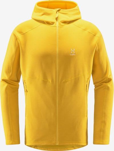 Haglöfs Funktionele fleece-jas 'Heron' in de kleur Geel / Wit, Productweergave