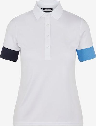 J.Lindeberg Poloshirt 'Yasmin' in blau / weiß, Produktansicht