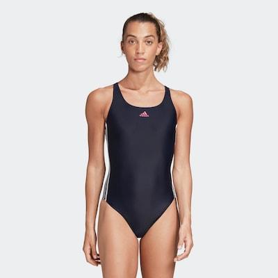 ADIDAS PERFORMANCE Sportbadpak 'Athly V 3-Streifen' in de kleur Navy / Pink / Wit, Modelweergave