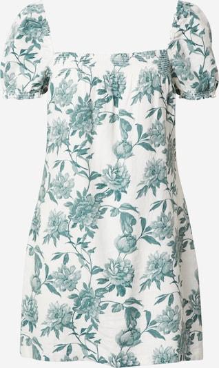 Abercrombie & Fitch Kleid in smaragd / weiß, Produktansicht