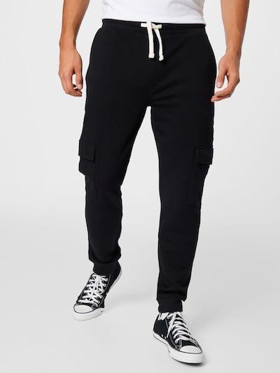 !Solid Pantalon cargo en noir, Vue avec modèle