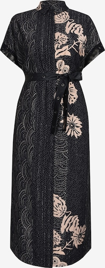 NÜ DENMARK Blousejurk 'Gitta' in de kleur Beige / Rosa / Zwart, Productweergave