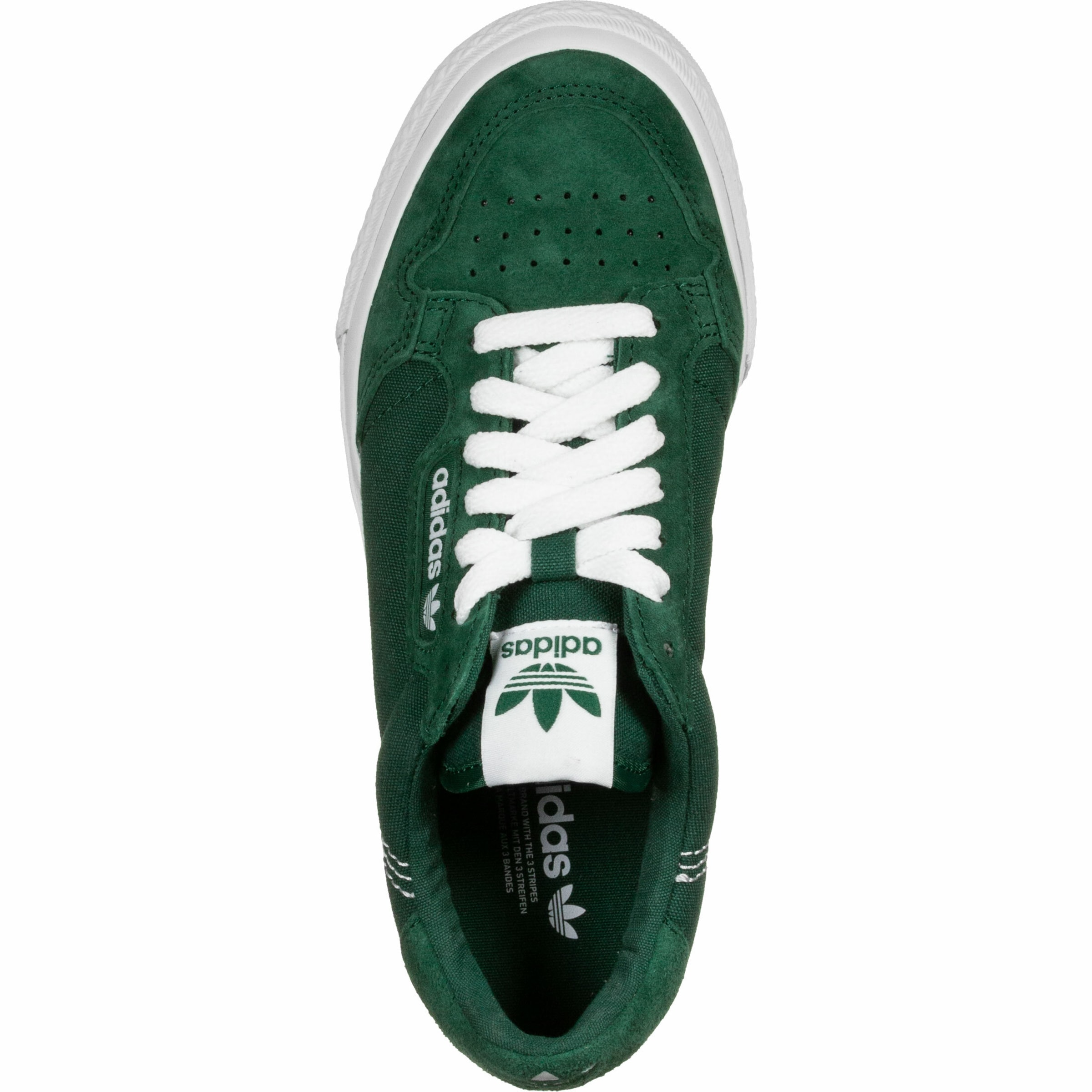 ADIDAS ORIGINALS Låg sneaker 'Continental Vulc' i grön / vit
