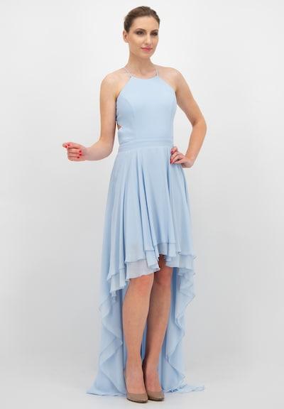 Prestije Neckholder Minikleid in blau, Modelansicht