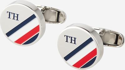 TOMMY HILFIGER Manšetni gumbi | modra / siva / rdeča / bela barva, Prikaz izdelka