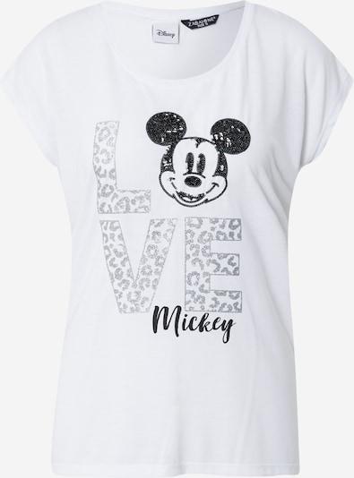 ZABAIONE T-Shirt 'Emilia' in silbergrau / schwarz / weiß, Produktansicht
