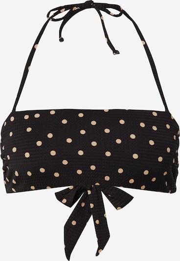 CATWALK JUNKIE Bikinitop 'HAPPY DOTS' in beige / schwarz, Produktansicht