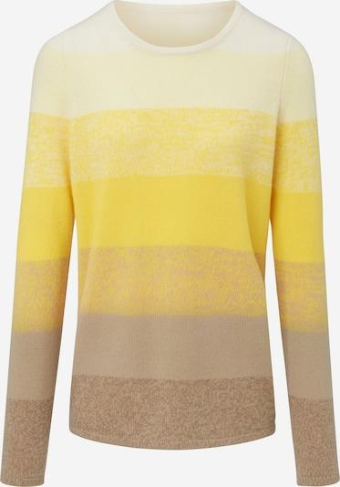 Fadenmeister Berlin Pullover Rundhals-Pullover aus 100% PremiumKaschmir in gelb, Produktansicht
