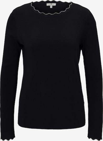 TOM TAILOR Strickpullover in schwarz / weiß, Produktansicht