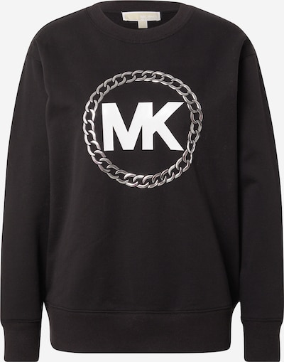 MICHAEL Michael Kors Sweater majica u siva / crna / bijela, Pregled proizvoda