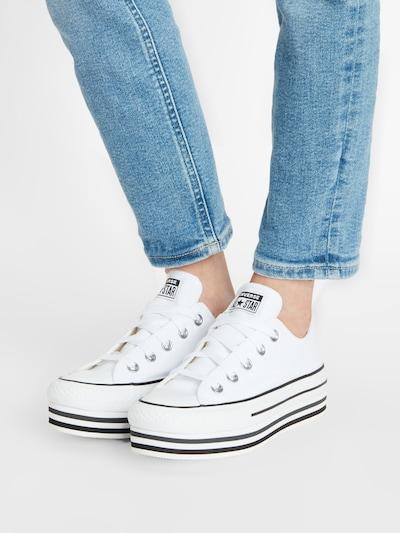 Sneaker low 'CHUCK TAYLOR ALL STAR PLATFORM LAYER - OX' CONVERSE pe alb: Privire frontală