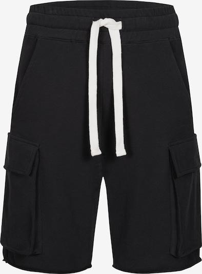 Ordinary Truffle Shorts 'OGUZ' in schwarz / weiß, Produktansicht