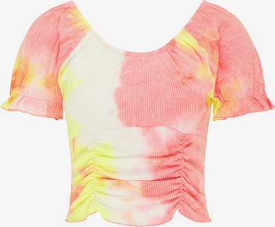 MYMO T-Shirt in gelb / orange / weiß, Produktansicht