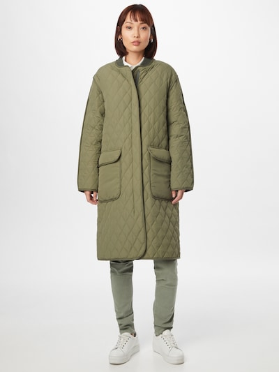 Noa Noa Overgangsfrakke i khaki, Modelvisning