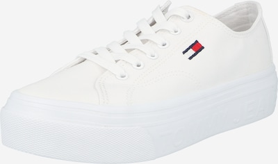 Tommy Jeans Baskets basses en bleu marine / rouge / blanc, Vue avec produit