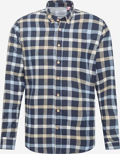 Kronstadt Košile 'Dean' - krémová / námořnická modř / světlemodrá / bílá, Produkt