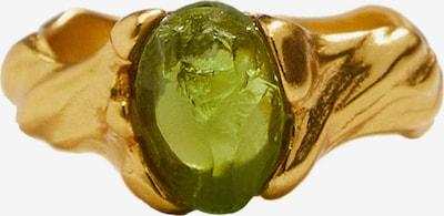 MANGO Bague 'Piccola' en or / vert clair, Vue avec produit