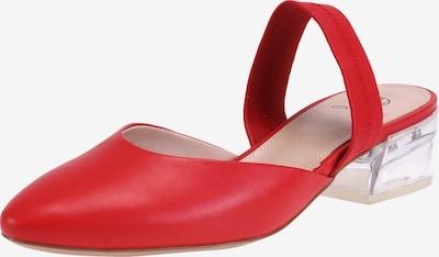 Ekonika Slingpumps aus glattem Leder in rot, Produktansicht