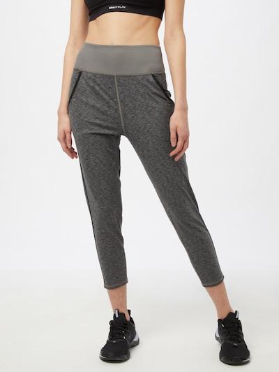 PUMA Sporta bikses, krāsa - dūmu pelēks / melns: Priekšējais skats