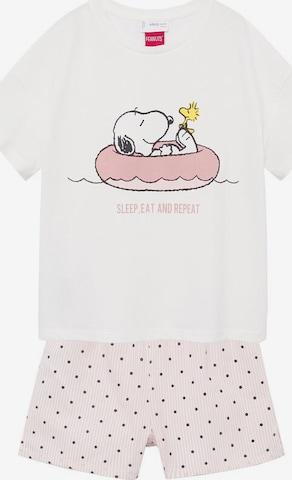 Pyjama 'Snoopy' MANGO KIDS en blanc