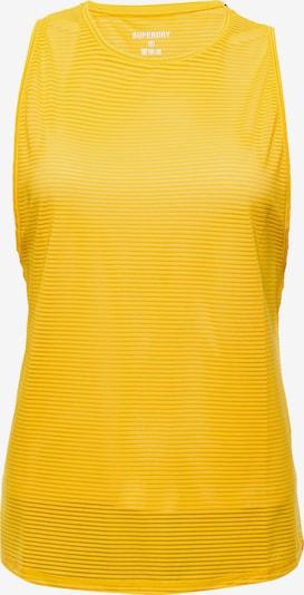 Superdry Haut de sport en jaune d'or, Vue avec produit