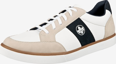 Sneaker low RIEKER pe maro cămilă / albastru cobalt / alb, Vizualizare produs