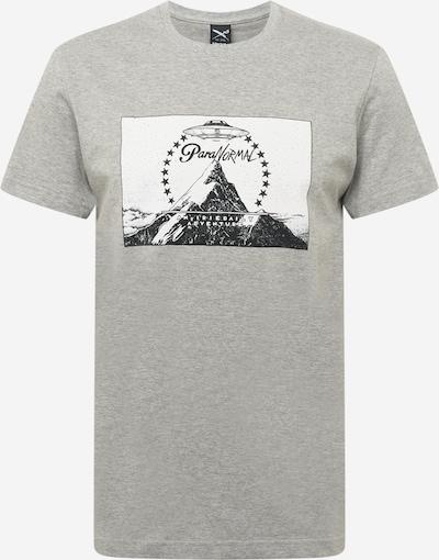 Iriedaily Тениска 'Paraventure' в сив меланж / черно / бяло, Преглед на продукта