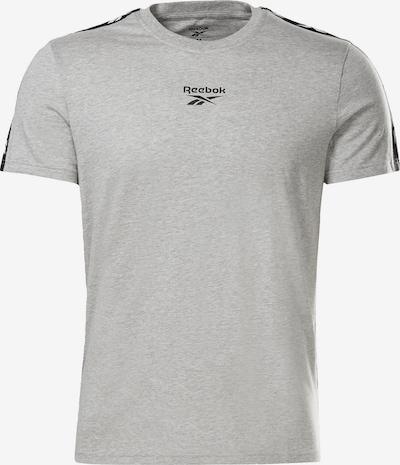 REEBOK Sportshirt in hellgrau / schwarz / weiß, Produktansicht