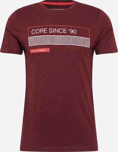 JACK & JONES T-Shirt 'BOOSTER SEPT 20' in weinrot, Produktansicht