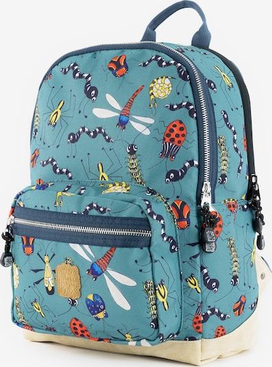 Pick & Pack Sac à dos 'Insect' en bleu cyan / jaune / rouge foncé / noir, Vue avec produit