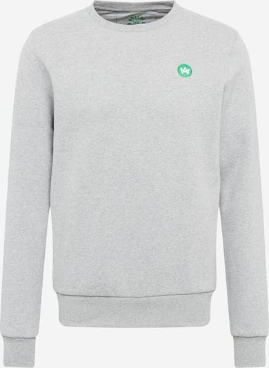 Kronstadt Sweatshirt 'Lars' in graumeliert / hellgrün, Produktansicht