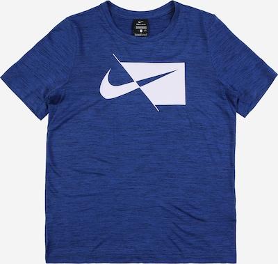 NIKE Функционална тениска в синьо / бяло, Преглед на продукта