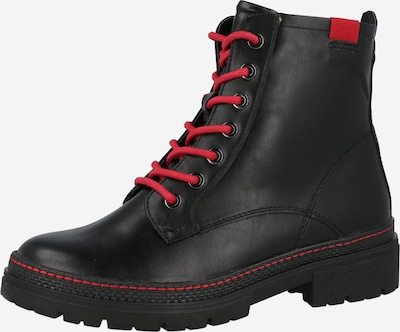 JANA Stiefelette in rot / schwarz, Produktansicht