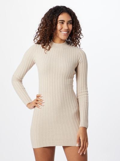 NA-KD Úpletové šaty - béžová, Model/ka