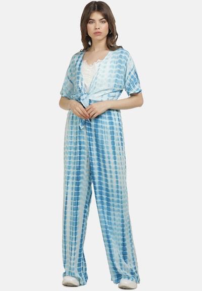 MYMO Combinaison en bleu / blanc, Vue avec modèle