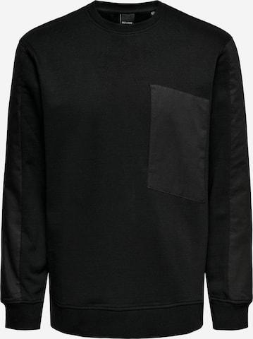 Only & Sons Sweatshirt in Schwarz