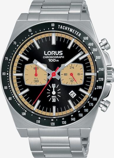 LORUS Uhr in creme / schwarz / silber, Produktansicht