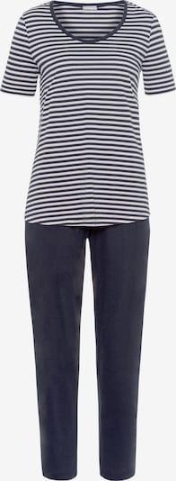 Hanro Kurzarm Pyjama ' Laura ' in dunkelblau / weiß, Produktansicht