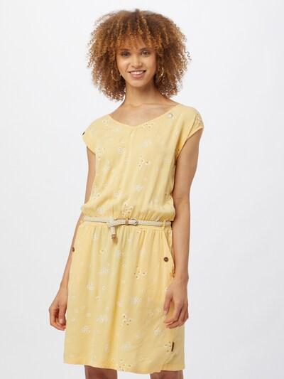 Ragwear Kleid 'CAROLINE' in hellbeige / gelb / weiß, Modelansicht