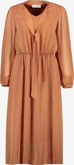 Lavard Kleid mit Goldfaden verziert in karamell, Produktansicht
