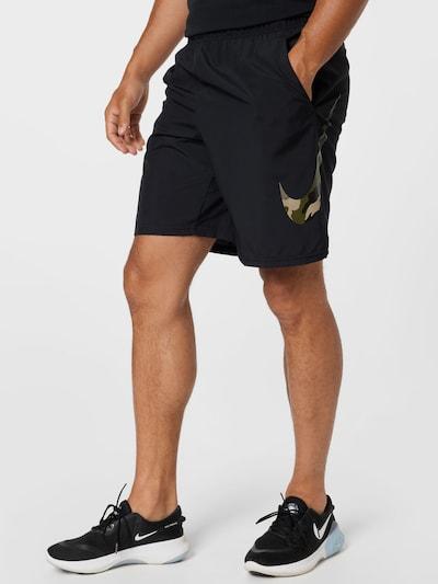 NIKE Športové nohavice - béžová / kaki / čierna, Model/-ka