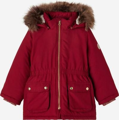 NAME IT Veste d'hiver en marron / rouge, Vue avec produit