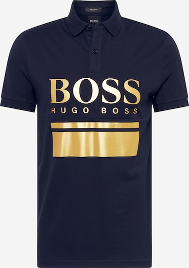 BOSS ATHLEISURE Shirt 'Pavel' in de kleur Donkerblauw / Goud, Productweergave