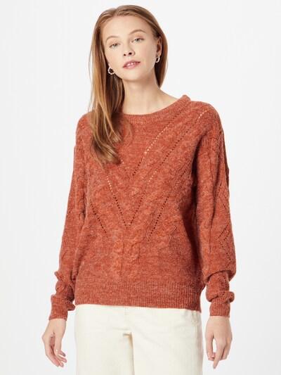 ICHI Jersey en beige moteado / marrón rojizo, Vista del modelo