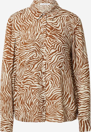Samsoe Samsoe Bluzka 'Milly' w kolorze kremowy / karmelowym, Podgląd produktu