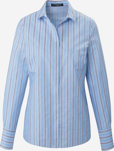 Fadenmeister Berlin Langarmbluse Bluse mit kleinem Kragen in blau, Produktansicht